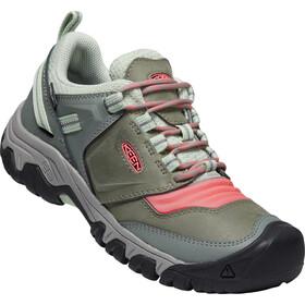Keen Ridge Flex WP Shoes Women, gris/naranja